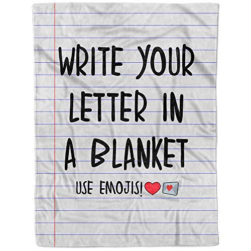 Personalized Letter Throw Blanket