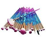 20pcs set di pennelli per trucco ombretto fondotinta in polvere eyeliner ciglia pennello per trucco miscelazione kit di strumenti cosmetici di bellezza (BLU)