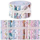 Wamkon 40 Farben Jelly Rolls, 6,25x 100 cm Cotton Craft