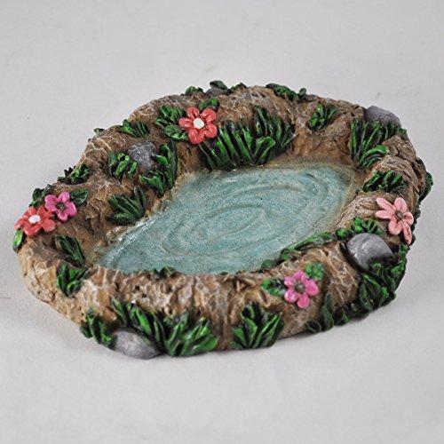 Fairy Garden Bassin Décoration miniature Décoration de maison de jardin anglais–Elfe Pixie Hobbit magique Idée de cadeau–Longueur: 14cm