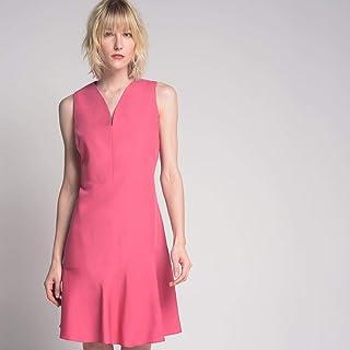 Vestido Decote Arredondado Pink
