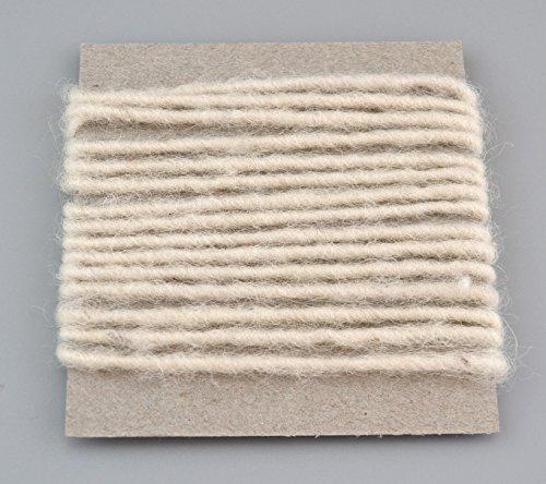 Wollkordel NATURWEISS/Wollweiss 3 m x 4 mm (0,62€/m) Wolldocht Ivory 4 mm Kordel 100% Wolle Dekoband Schleifenband Geschenkband Filzkordel Wollschnur Wollband Bastelwolle