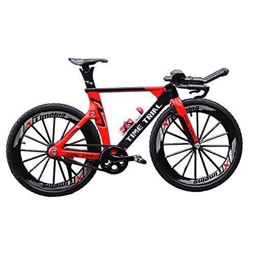 GCDN - Modellino 1:10 di bicicletta da corsa in lega di zinco, decorazione da scrivania, per casa/ufficio, Non null, Rosso, Taglia libera