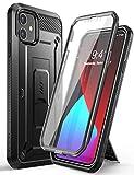 SUPCASE Unicorn Beetle Pro Series Custodia per iPhone 12 Mini (versione 2020) 5,4 pollici, protezione schermo integrata, robusta custodia protettiva integrale (nero)