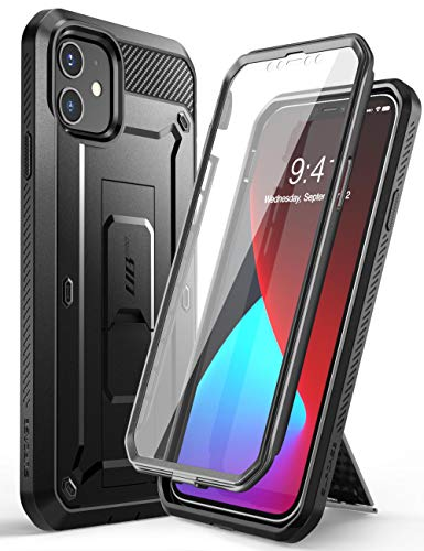 SUPCASE Unicorn Beetle Pro Series Case for iPhone 12 Mini (2020 Release) 5.4 Inch, Built-in Screen Protector Full-Body Rugged Holster Case (Black)
