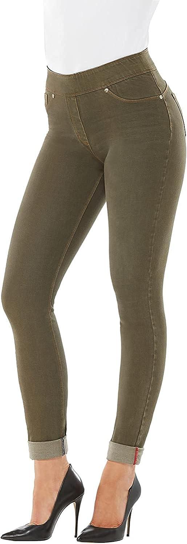 Luxe Denim Slims Womens Plus Size Skinny Cuff Jeans