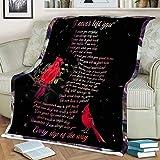 Cardinal Gifts For Women Fleece Blanket - I Never Left You Cardinal - Red Cardinal Gifts Throw Blanket - Cardinals Throw - Cardinal Bird Gift - Cardinal Bedding Home Decor - Cardinal Bird Gifts
