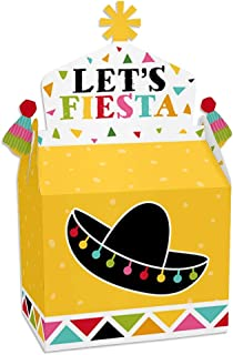 Big Dot of Happiness Let's Fiesta - Treat Box Party Favors - Mexican Fiesta Goodie Gable Boxes - Set of 12