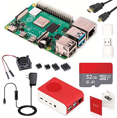 Raspberry Pi 4 Model B Starter Kit/ラズベリーパイ4B(2GB RAM)技適マーク付/MicroSDHCカード32GB&16GB ...