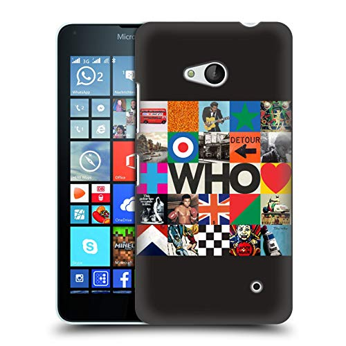 Head Case Designs Offizielle The Who Viereck Collage 2019 Album Harte Rueckseiten Huelle kompatibel mit Microsoft Lumia 640 / Dual SIM