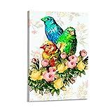 UNGGOY Póster de Canarias y flores y arte de pared moderno para decoración de dormitorio familiar de 30 x 45 cm
