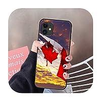 カナダフラグ赤電話ケースカバー船体For IPhone 5 5s se 2 6 6s 7 8 12 Mini Plus X XS XR 11 PRO MAXブラックコークファッション-3-iPhone X or XS