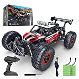 Superior speed rc car: With 2. 4 GHz radio control system, the SPESXFUN 2021 Updated remote control trucks will bring you a special driving experience. The 1/14 scale rc offroad truck makes it more realistic and impressive. With two powerful built-in...