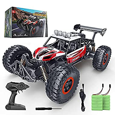 RC Car, SPESXFUN 2021 Upgraded 1:14 Scale High Speed Remote Control Car, 2.4Ghz Off Road RC Trucks with Two Rechargeable…