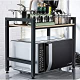 XAGB Estantería de cocina tipo de piso, almacenamiento doble, estante de almacenamiento 60 * 36 * 50 cm (Color : C, Size : 60cm)