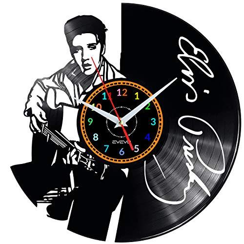 Elvis Presley Wanduhr Vinyl Schallplatte Retro-Uhr groß Uhren Style Raum Home Dekorationen Tolles Geschenk Wanduhr Elvis Presley