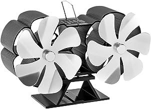 Baoblaze Ventilador de Chimenea de Estufa de Calor de 12 Aspas para El Hogar Chimenea de Leña de Leña Circulando Aire Caliente Ahorro de Combustible de Manera - Plata, Individual