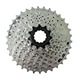 AJO CS-HG201-9 índice 11-32/34/36 Tornillo de Bloque de Rueda Libre de Bicicleta en piñón de Cassette, piñón de Rueda Libre de Pieza de Repuesto de Bicicleta MTB de 9 velocidades (Size : 11-34T)