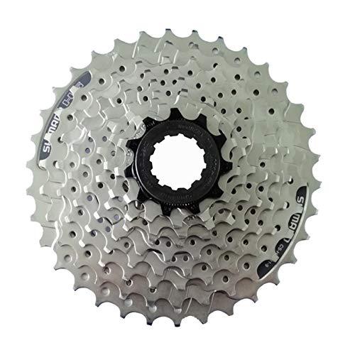 AJO CS-HG201-9 Index 11-32/34/36 Bike Freewheel Block Screw On Cassette Cog, 9 Speed MTB Bicycle Refit Part Freewheel Sprocket (Size : 11-36T)