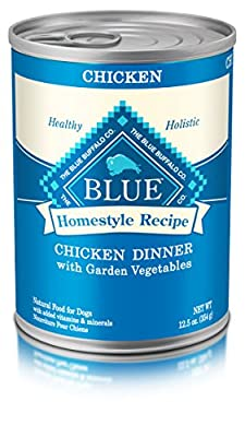 Blue Buffalo Homestyle Recipe Wet Dog Food, Chicken Dinner with Garden Vegetables, 12.5 Oz Can