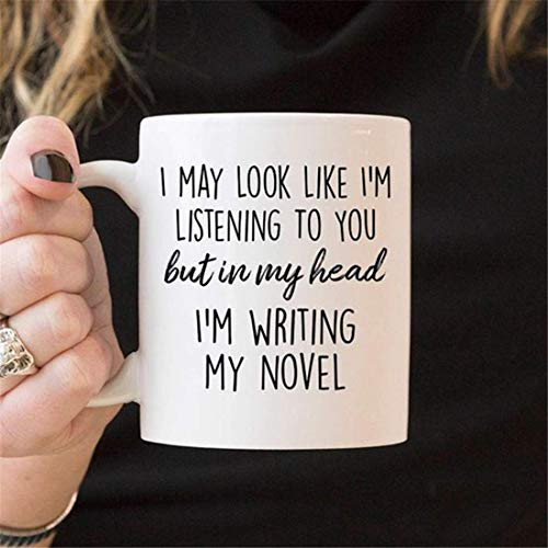 LECE Author Gifts - Literary Gift - Writer Gift - But In My Head I'm Writing My Novel Coffee Mug - Book Gifts