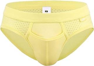 HaiDean Men's Nene Triangle Under Warming Sheer Modern Casual Comfort Bikini Bottom Lightweight Soft U Convex Bubble Ice S...