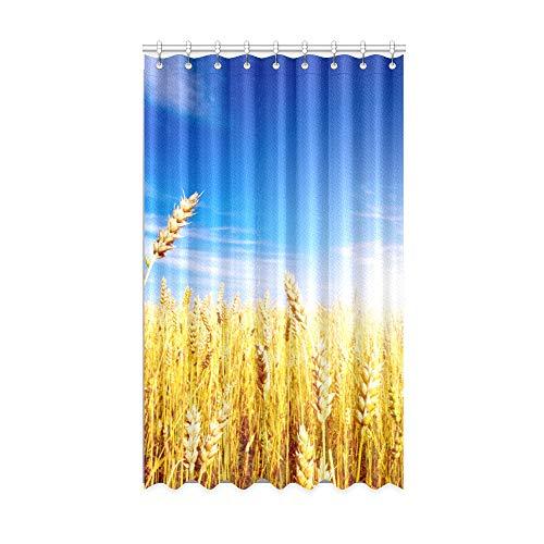 N\A Rideau pour Chambre à Coucher Golden Peaceful Wheat Field bébé fenêtre Rideaux 50 X 84 Pouces Une pièce pour Patio Coulissant Porte en Verre/Chambre à Coucher