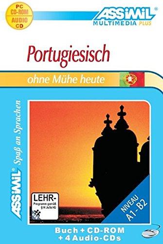 Portugiesisch ohne Mühe heute. Multimedia-PLUS. Lehrbuch + 4 Audio CDs + CD-ROM