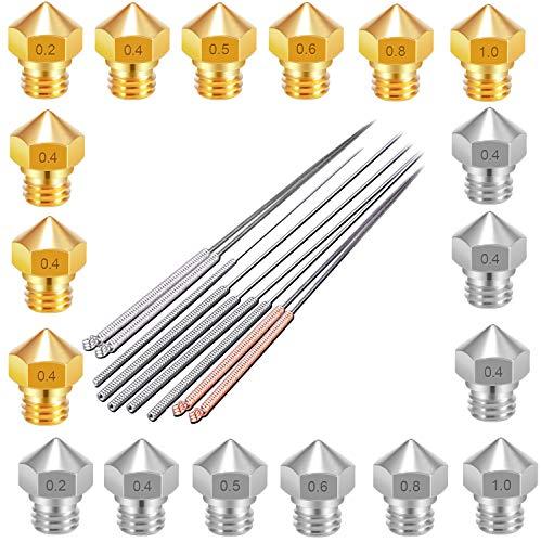 MK10 - Ugello estrusore per stampante 3D, compatibile con filettatura M7, 1,75 filamenti (ad es. Flashforge Finder/Creator - Monoprice Select Mini V2 - Anet a8- qidi tech 3D)