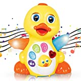 CifToys Light Up Duck Toy, Musical Baby Toys, Walking Flapping Dancing Duck Toys for 3 2 1 Year Old Gifts, Toddler Toys- Dancing, Singing, Electronic Duck Toy with Lights and Adjustable Sound