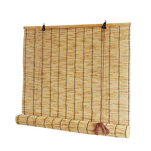 ZXXL Persiana Enrollables Bambú Cortina de Caña Natural, Persianas Enrollables de Bambú al Aire Libre para Balcón/Pérgola/Ventana/Puerta, Sombrilla/Aislamiento Térmico, Personalizable