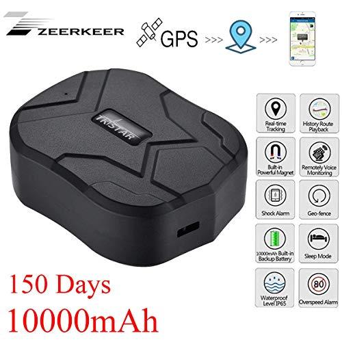 Localizador GPS para Coche,10000mAh GPS Tracker Tiempo Real Anti-ladrón Rastreador GPS Profesional App Gratuita para Seguimiento Vehículo