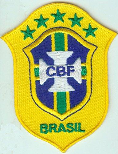 MAREL Patch Brasile Nazionale Calcio FIFA Soccer Toppa termoadesiva Ricamo cm 7,5 x 5,5 Replica - 1413