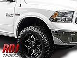 RDJ Trucks HWY-PRO OEM Style Fender Flares - Fits Dodge Ram 1500 2009-2018 - Set of 4 Painted (PW7 - White)