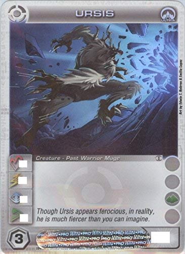 Chaotic URSIS Ultra Rare FOIL Creature-Past Warrior Muge Card # S04/026 (Random Stats)