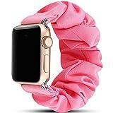 Miimall - Bracciale Scrunchie Compatibile con Apple Watch Series 5/4/3/2/1 (40Mm/38Mm, Rosa)