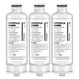Crystala Filters DA97-17376B Replacement For Samsung Genuine DA97-08006C Refrigerator Water Filter, RF23M8070SG, RF23M8070SR, RF23M8090SG, RF23M8090SR, RF23M8570SR, RF23M8590SG,(HAF-QIN/EXP) 3-Pack