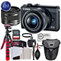 Canon EOS M100 Mirrorless Digital Camera Kits by K&M