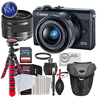 Canon EOS M100 Mirrorless Digital Camera Kits by K&M
