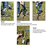 CHUMAA Bulb Planter, Weeder, Sod Plugger, Flower Planting, Soil Sampler-5-IN-1 Lawn Tool and Garden Tool - Enhanced… 13 SIMPLE AND EASY TO USE –To use, drive the Long-Handled Bulb Planter into the soil and turn clock-wise and counter-clockwise a few times to loosen up the dirt, then pull up. Dig 3.5inch diameter planting holes quickly, one after another, from a comfortable standing position. Avoid digging in dry or overly saturated soil. MULTI-USE GARDEN TOOL –Plant your garden favorites. Spring and fall bulbs, annuals, ground covers, vegetables and more. Makes a great lawn and sod plugger, weeding tool, soil sample tool and drip-edge fertilizing tool. TAKE THE PAIN OUT OF PLANTING –5-IN-1 Planting Tool allows you to work from a standing position, saving your back and knees. Comfortable, sturdy hand grips are helpful for seniors or those with mild arthritis.