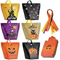 Halloween Candy Bags Treat Bags-30 Pack Paper Halloween Bags Jack-O-Lantern Trick or Treat Goody Bags Halloween Sweet Goodie Bags Halloween Party Favors Gift Bags for Kids Halloween Party Supplies Decorations