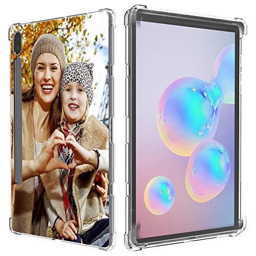 SHUMEI Compatible Samsung Galaxy Tab S7 (T870/T875/T878) Funda personalizada para regalo de fotos de absorción de golpes, suave y transparente, cubierta protectora de TPU para bricolaje imágenes HD