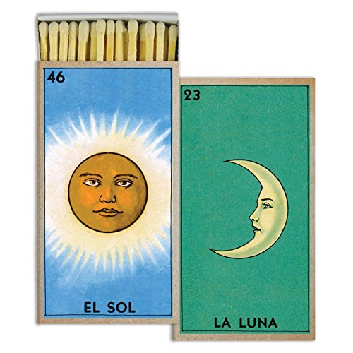 Buy MY SWANKY HOME Retro Sun Moon Art Deco Matches | Blue Green Set 10
