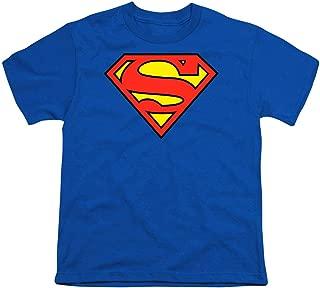 Popfunk Superman Logo Youth T Shirt & Stickers