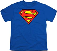 Popfunk Superman Logo Youth T Shirt & Stickers