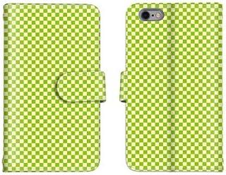 Optimus G pro L-04E スマホケース 手帳型 チェック柄 グリーン 5番 スマホカバー かわいい おしゃれ 携帯カバー L-04E ケース