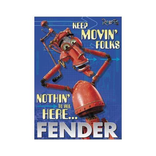 Filmpóster rodar Motiv: Robots Fender