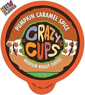 Crazy Cups Decaf Flavored Coffee, Decaf Pumpkin Caramel Spice, Recyclable Single Serve Decaffeinated Pumpkin Spice Coffee ...