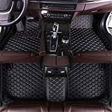 Muchkey for Toyota Tundra/Solara/Corolla/Camry/Highlander/Rav4/Hilux/Venza/CHR/Avalon/Sienna Leather Car Floor Mats All-Weather Protection Waterproof Floor Liners Black Beige