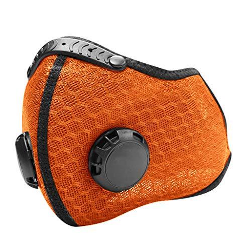 Skang Protector Facial con Válvulas de Respiración para Soldadura,Tela Facial, Gorro, Bicicleta, Esquí, Casco Duro,Tejido De Boca, Multifuncional